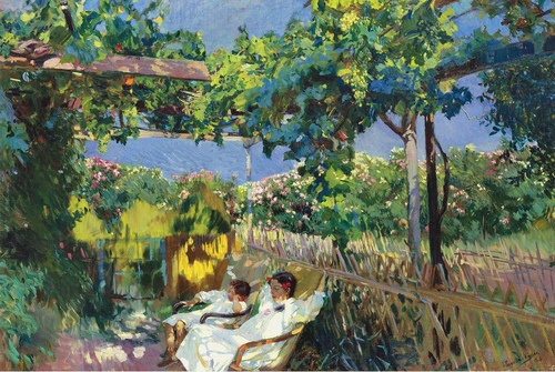 Sorolla, Joaquin (Spanish, 1863-1923) - Siesta in the Garden - 1904 (by *Huismus)