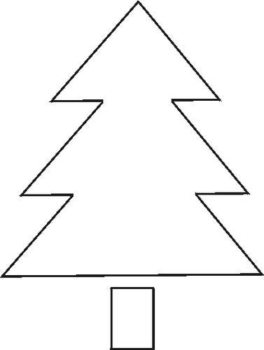 christmas tree stencil free pictures
