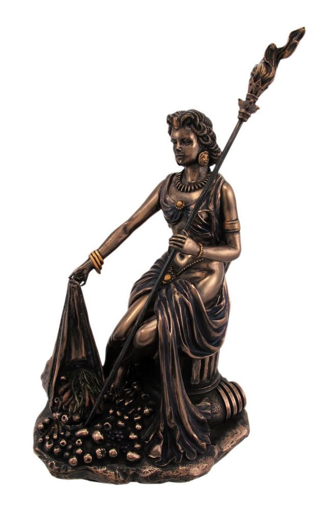Greek Goddess Demeter Mother Earth Statue Roman Ceres
