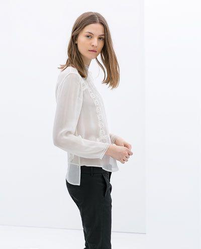 Zara Blouse With High Collar 112