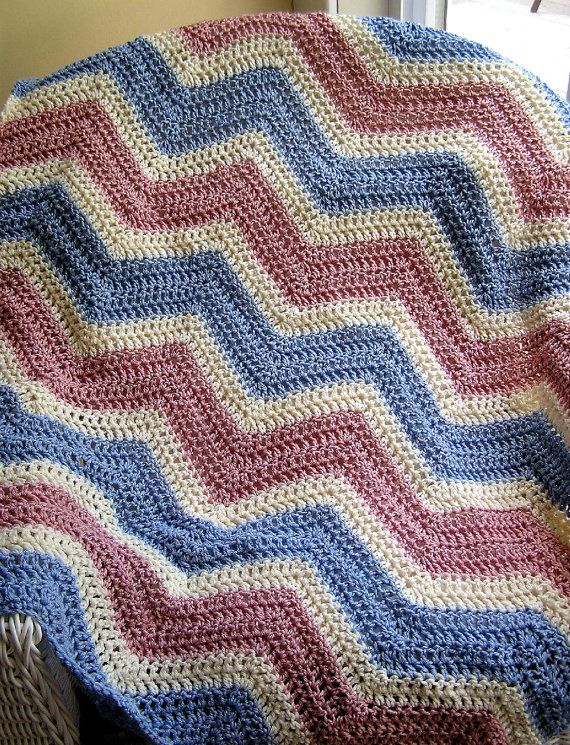 Crochet Zig Zag Afghan : chevron zig zag baby blanket afghan wrap by JDCrochetCreations, $75.00 ...