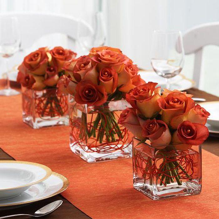 Autumn Rose Centerpiece