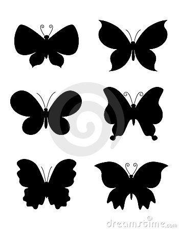 Vlinder / Vlinders Silhouet Foto | SpiderPic royalty-vrije stock foto's
