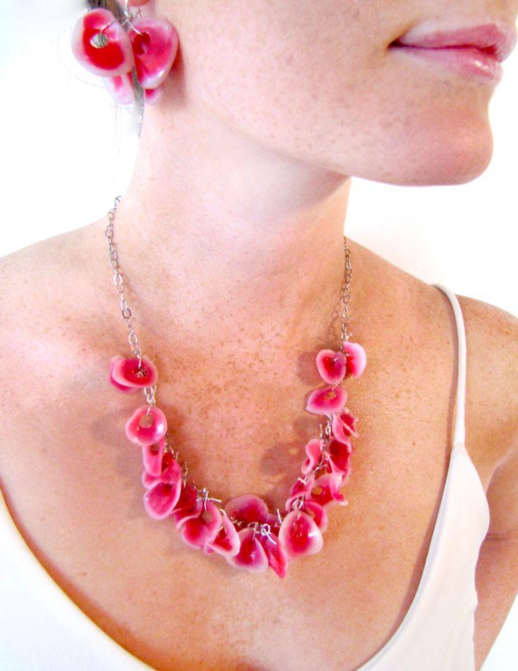 pink petal beads amp sterling silver hook style earrings brighten your