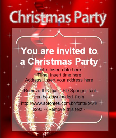 Christmas Party Invitation Card | Office Templates | Pinterest: pinterest.com/pin/420805158905251452