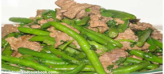 Vietnamese Beef Stir Fry (Thit Bo Xao Dau) - Click image for recipe