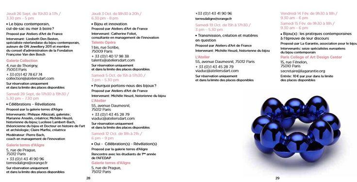 CIRCUITS BIJOUX - Conférences