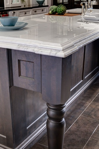 Charcoal Stained Island #cabinets  New House Inspiration & Ideas  P
