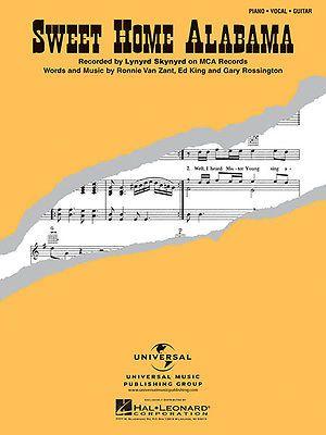 Sweet home alabama song by lynyrd skynyrd piano vocal for Who sang the song sweet home alabama