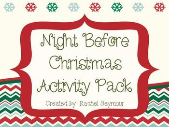 Night Before Christmas Activity Pack- great last minute resource. Just ...