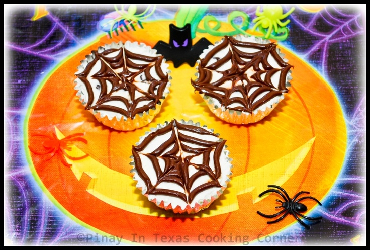 No-Bake Cheesecake Cup with Nutella Spiderweb Topping