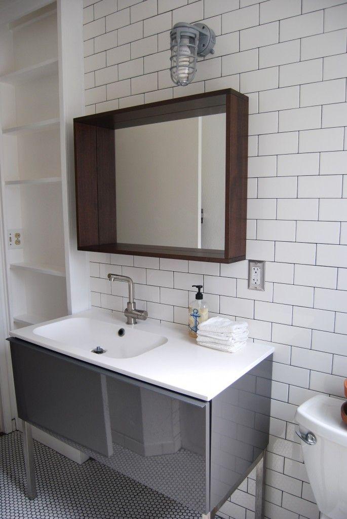 Subway tile modern bathroom pinterest for Tile for the bathroom