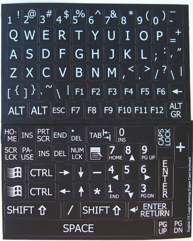 This is a picture of Exceptional Printable Keyboard Stickers