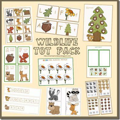 Printable wildlife toto pack