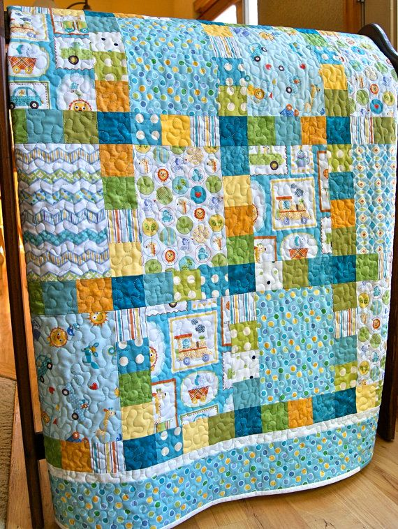 Quilt baby boy patchwork handmade happi fabrics toddler for Quilt material for boys