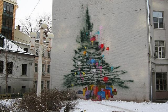 Граффити ёлка by 0331 via flickr