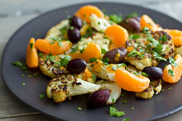 ... Ate This Week | Charred Cauliflower with Clementines & Kalamata Olives