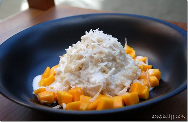Thai Coconut Sticky Rice with Mango | Deserts and treats | Pinterest