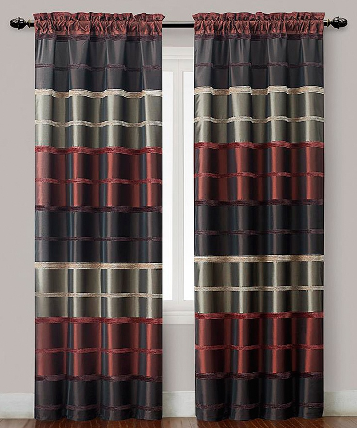 red plaid bombay curtain panel set of two daily deals for moms