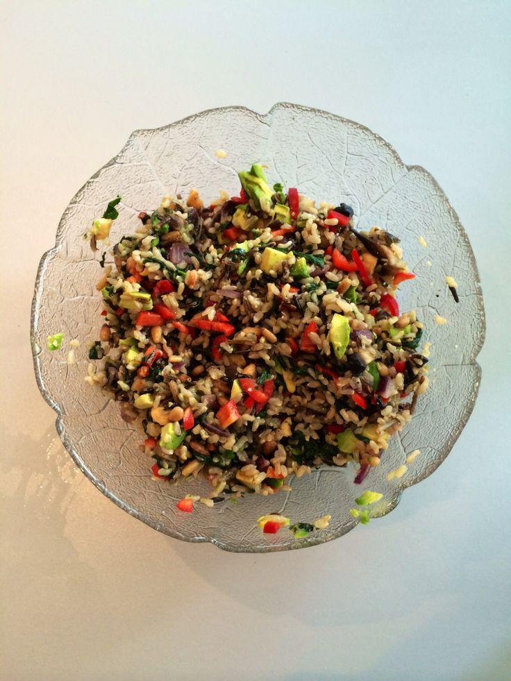 Brown & Wild Rice Salad | Healthy meals | Pinterest