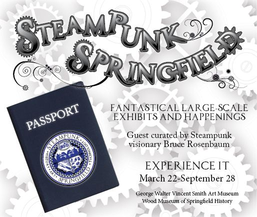 Fantastical large-scale exhibits and happenings guest curated by Steampunk visionary Bruce Rosenbaum. Sponsored by Merriam-Webster, AAA Pioneer Valley and Peerless Precision.