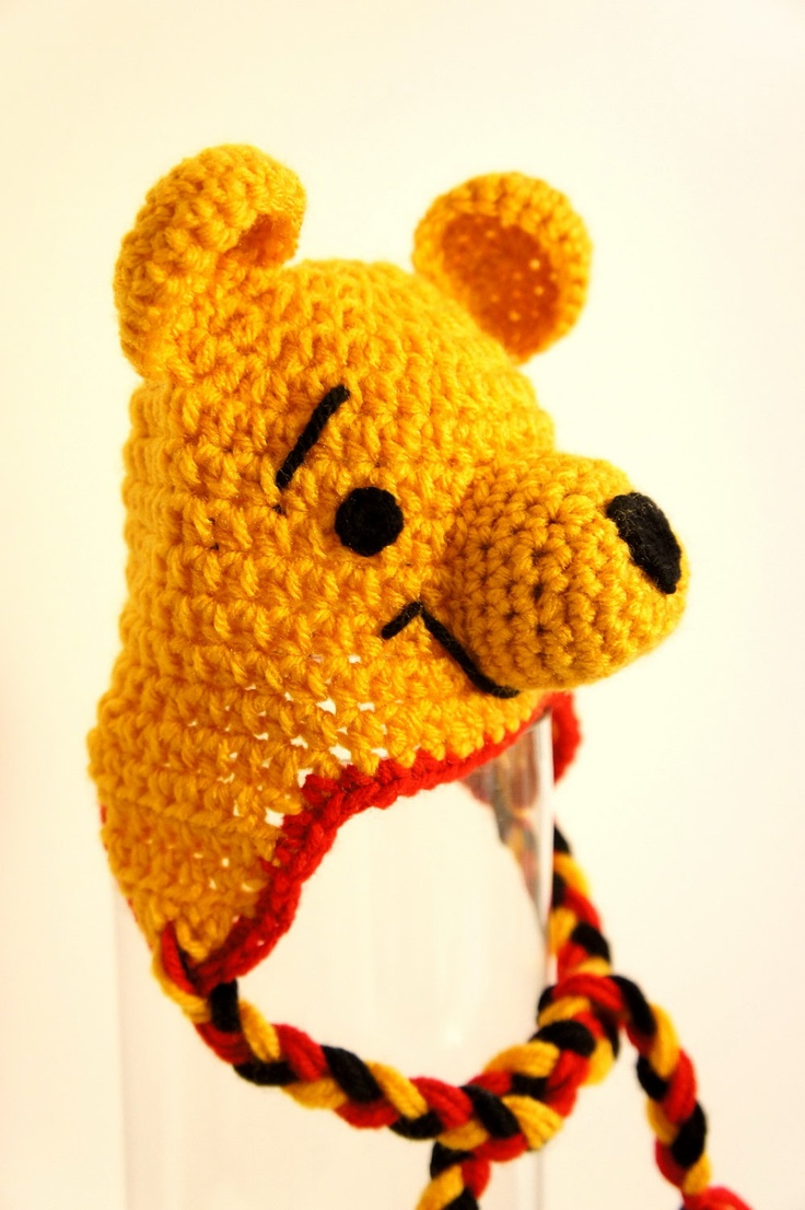Crochet Pooh Bear Hat Pattern : Pinterest: Discover and save creative ideas