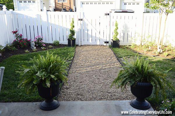 Tips on installing a DIY pea gravel garden path