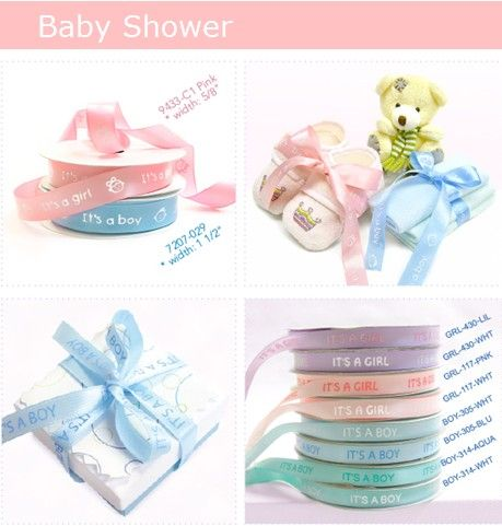 personalized ribbons for baby shower 3 baby shower ideas pinterest