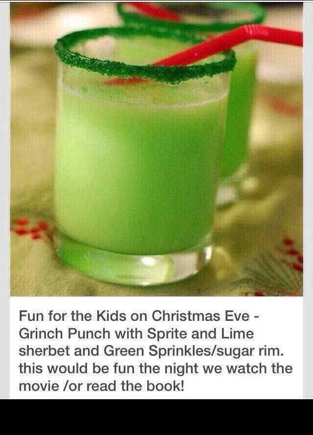 Grinch punch | For kids | Pinterest