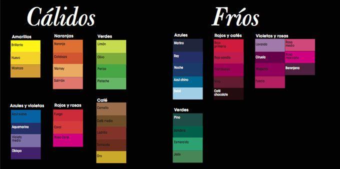 Colores calidos y frios la casa ideal pinterest - Colores frios y colores calidos ...