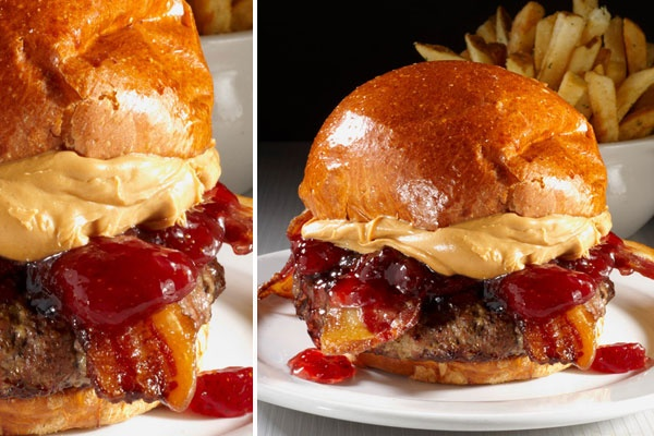 50 pizza burger is the february burger of the month 50 50 burger ...