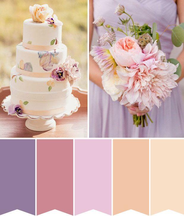 Peach color wedding