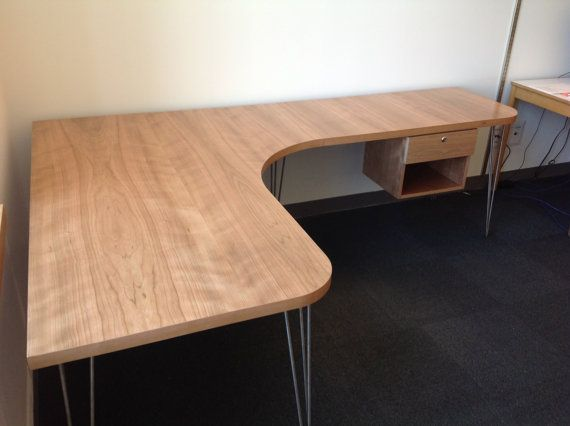 Modern Desk with Hairpin Legs by REPriceCabinetry on Etsy, $2600.00