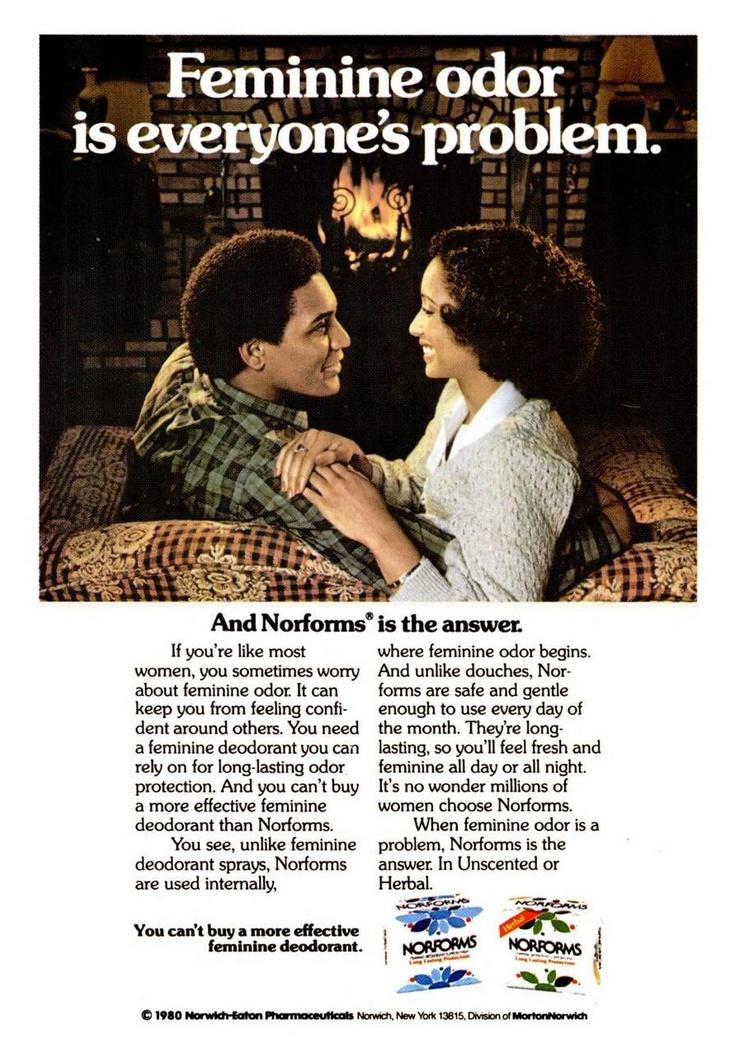 Norforms Feminine Deodorant ad, Jet, August 21, 1980