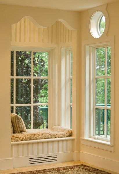 Beautiful window seat house envy pinterest Window seat reading nook