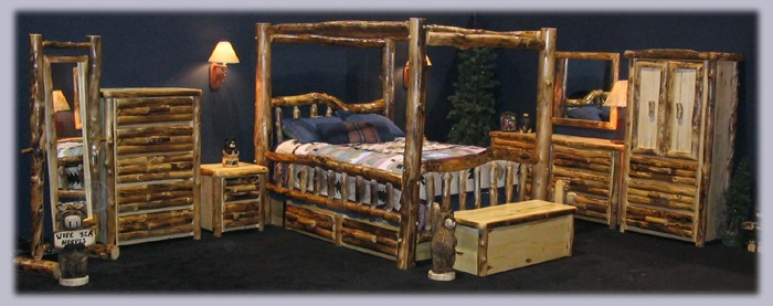 Bedroom Set Log Cabin Pinterest