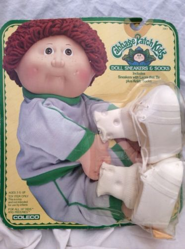 vintage cabbage patch doll clothes white sneaker boots