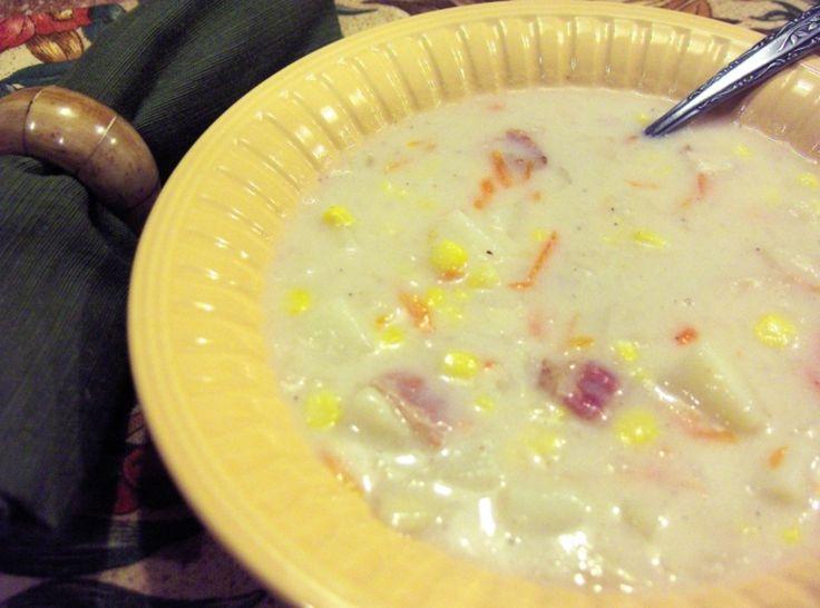 Creamy Chicken Corn Chowder | main course | Pinterest