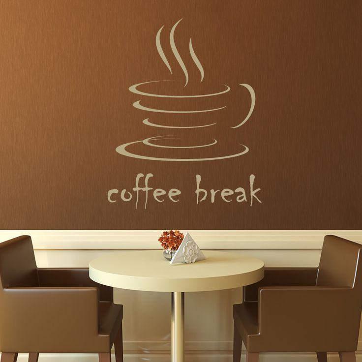 Coffee Wall Art Coffee Break Kitchen Cafe Wall Decals Wall Art