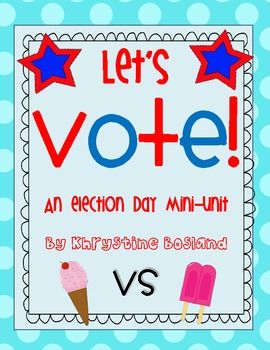 Let's Vote - adorable election day ideas!!! super cute and great price ...