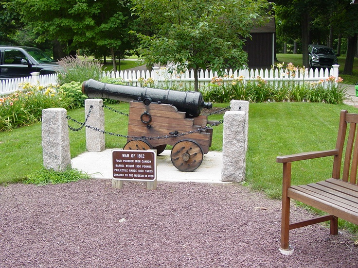 Four Pounder Iron Cannon Barrel, Used in the War of 1812, donated to the Henry Whitfield Museum in 1908.