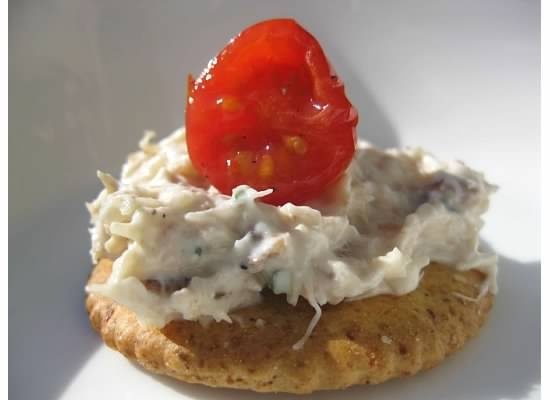 Crab Dip with Garlic Saltines and Roasted Cherry Tomatoes | Recipe