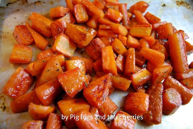 Maple glazed oven roasted carrots | Recipes | Pinterest