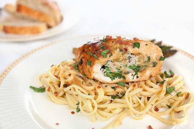 Fresh Herb, Mushroom and Ricotta Stuffed Chicken Breasts