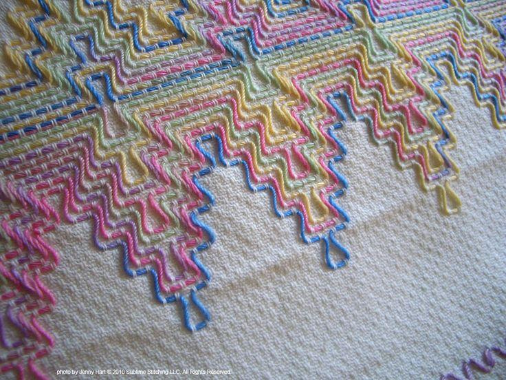 Huck work swedish weaving bordados y mas pinterest