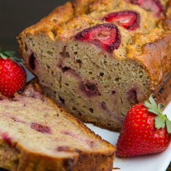 Strawberry Greek Yogurt Banana Bread   Food   Pinterest