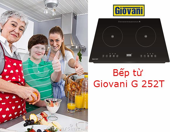 Bật mí những tiện ích thú vị của bếp từ Giovani G 252T