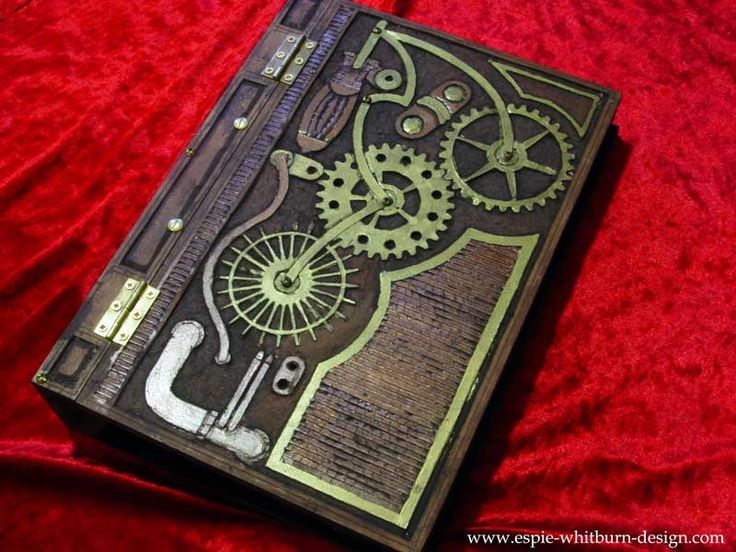 Steampunk Book Cover Diy ~ Steampunk book w design how to altered books pinterest