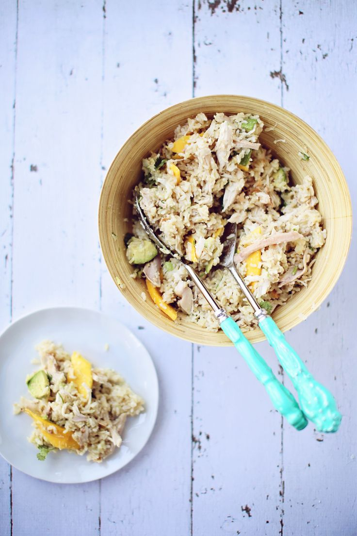 coconut mango rice salad1 mango chicken amp brown rice salad with ...