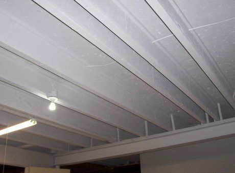 How To Finish A Basement Ceiling Cheap Basement Pinterest